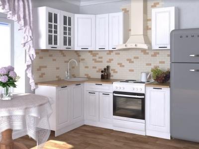 Кухонный гарнитур угловой Белый вегас 1600х1400