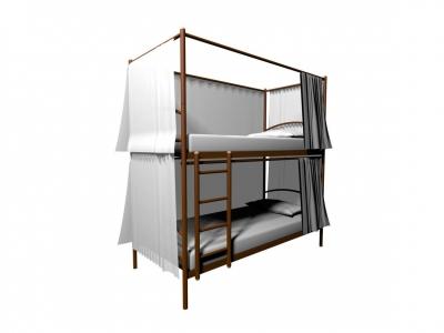Конструкция для штор к Хостел Duo 4х стронняя